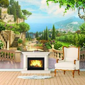 Fototapet Fresco, O dimineață frumoasă cu vedere la balcon