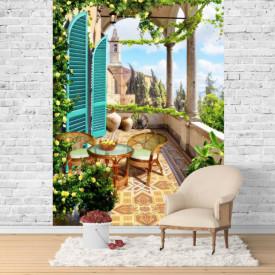 Fototapet Fresco, Plimbarea de primăvară pe verandă