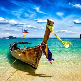 Fototapet Mare, Barcă pe ocean