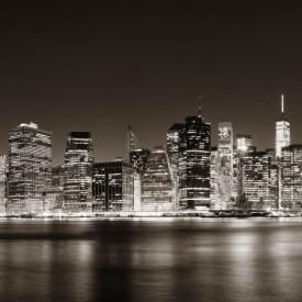 Fototapet, Orașul de noapte pe apă