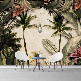 Fototapet, Palmieri si plante tropicale