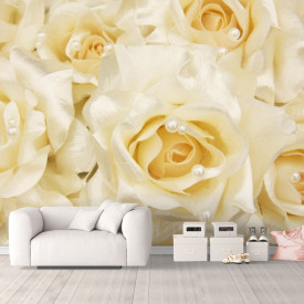 Fototapet, Trandafiri și perle