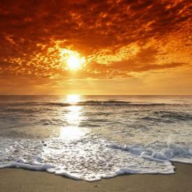 Fototapete, Apus de soare pe plajă
