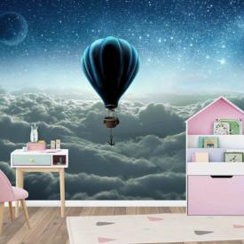 Fototapete Pentru Copii, Balonul în cerul de noapte