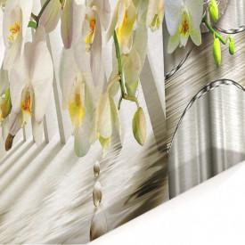 Multicanvas, Orhideea albă pe un fundal 3D