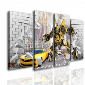 Multicanvas, Robotul pe un fundal 3D