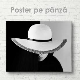 Poster, Doamnă în pălărie albă