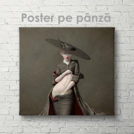Poster, Doamna în pălărie