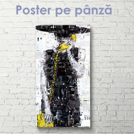 Poster, Fată cu telefon galben
