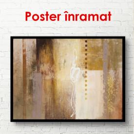 Poster, Textură de lemn auriu