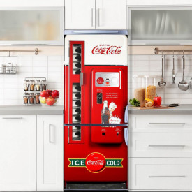 Stickerele decorative, pentru uși, CocaCola, 1 foaie de 80 x 200 cm