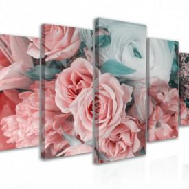 Tablou modular, Buchet de flori delicate