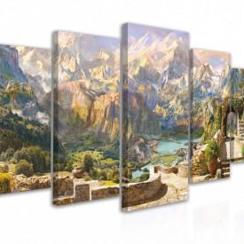 Tablou modular, Peisaj cu vedere la munți