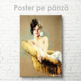 Постер, Fată cu o floare