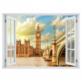 Fereastră falșă, Fereastră 3D cu vederea spre Turnul cu ceasul din Londra