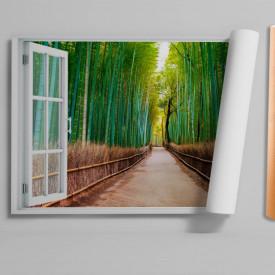 Fereastră falșă, Fereastră cu vederea spre o pădure de bambus