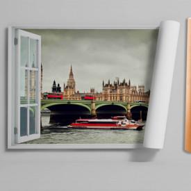 Fereastră falșă, Fereastră cu vederea spre un vapor din Londra