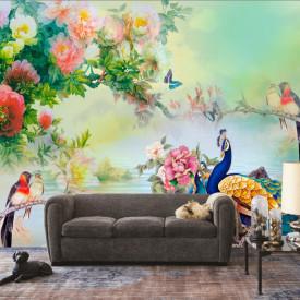 Fototapet, Grădina din poveste cu păsări