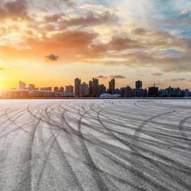 Fototapet, Peisajul de iarnă la apus