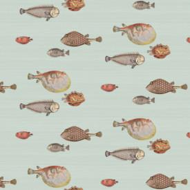 Fototapet, Pește pe un fundal albastru