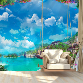 Fototapet, Priveliște minunată spre mare