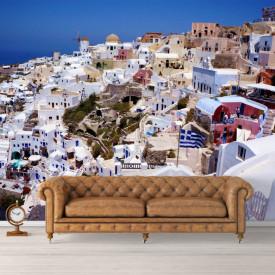 Fototapet, Un oraș cu Priveliște la mare