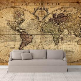 Fototapete, O hartă a lumii străveche.