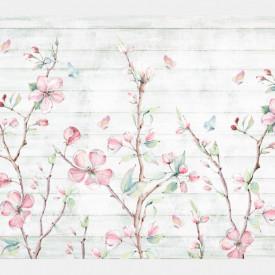 Fototapete, Un fundal abstract cu flori delicate.