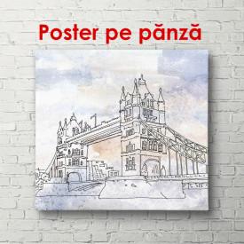 Poster, Acuarelă cu Londra