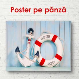 Poster, Ancorarea și salvare de salvare pe un fundal de perete