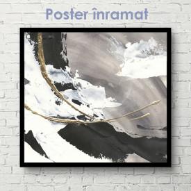 Poster, Arta abstractă gri