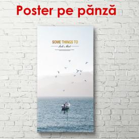 Poster, Barca în ocean