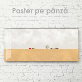 Poster, Case mici într-un câmp pustiu