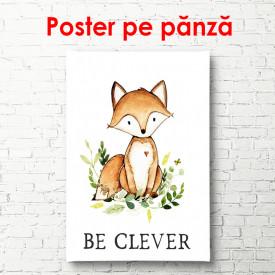 Poster, Chanterelle pe un fundal alb