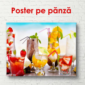 Poster, Cocktailuri de vară pe fundalul plajei