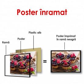 Poster, Coșul de prăjituri delicioase pe masă