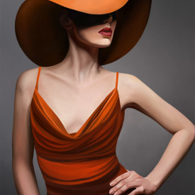 Poster, Doamnă în pălărie roșie