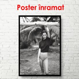 Poster, Fată în tropice