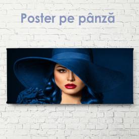 Poster, Fată plină de farmec în pălărie