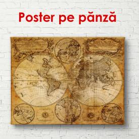 Poster, Hartă vintage