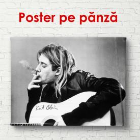 Poster, Imagine alb-negru a lui Kurt Cobain