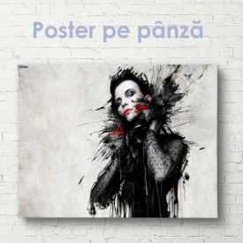 Poster, Imagine grafică a unei fete