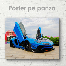 Poster, Lamborghini albastru