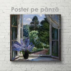Poster, Liliac lângă fereastră