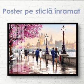 Poster, Orașul dragostei în acuarelă