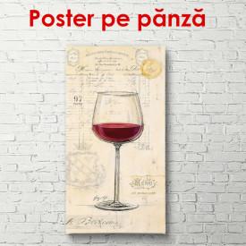 Poster, Paharul cu vin roșu