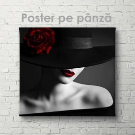 Poster, Pălărie cu trandafir roșu