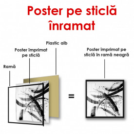 Poster, Pete negre pe un fundal alb