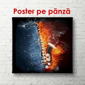 Poster, Saxofonul pe fundal luminos