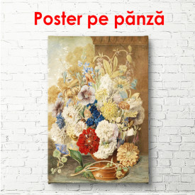 Poster, Vază cu flori pe masă